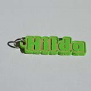 Hilda Single & Dual Color 3D Printable Keychain-Badge-Stamp | Crafting | Jewelry
