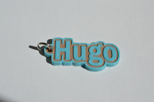 First Additional product image for - Hugo Single & Dual Color 3D Printable Keychain-Badge-Stamp