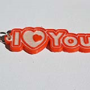I Love You : Single & Dual Color 3D Printable Keychain-Badge-Stamp | Other Files | Everything Else