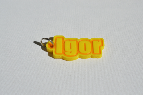 First Additional product image for - Igor Single & Dual Color 3D Printable Keychain-Badge-Stamp