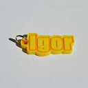 Igor Single & Dual Color 3D Printable Keychain-Badge-Stamp | Other Files | Patterns and Templates