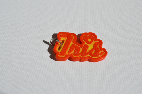 First Additional product image for - Iris Single & Dual Color 3D Printable Keychain-Badge-Stamp