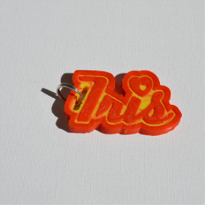 Iris Single & Dual Color 3D Printable Keychain-Badge-Stamp | Other Files | Patterns and Templates