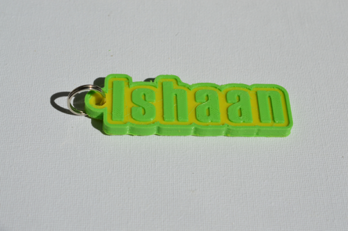 First Additional product image for - Ishaan Single & Dual Color 3D Printable Keychain-Badge-Stamp