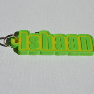 ishaan single & dual color 3d printable keychain-badge-stamp