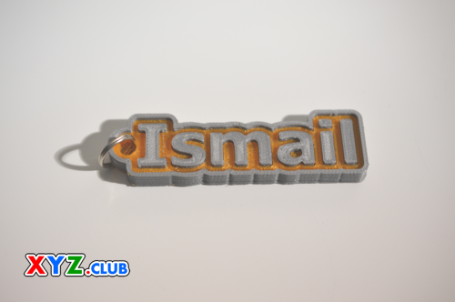 First Additional product image for - Ismail Single & Dual Color 3D Printable Keychain-Badge-Stamp