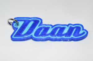 Daan Single & Dual Color 3D Printable Keychain-Badge-Stamp | Other Files | Everything Else