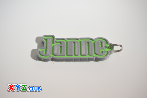 Janne Single & Dual Color 3D Printable Keychain-Badge-Stamp | Other Files | Everything Else