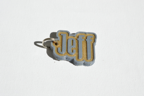 First Additional product image for - Jeff Single & Dual Color 3D Printable Keychain-Badge-Stamp