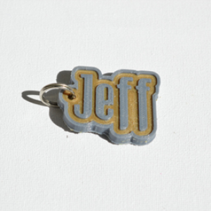 Jeff Single & Dual Color 3D Printable Keychain-Badge-Stamp | Other Files | Everything Else