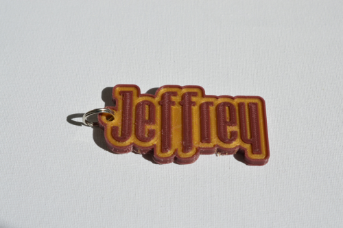 First Additional product image for - Jeffrey Single & Dual Color 3D Printable Keychain-Badge-Stamp