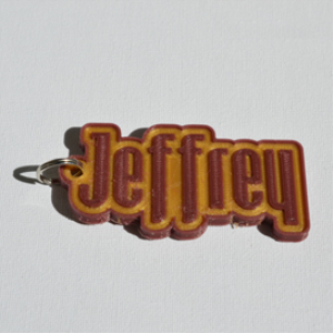 Jeffrey Single & Dual Color 3D Printable Keychain-Badge-Stamp | Other Files | Everything Else