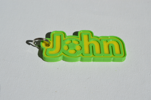 First Additional product image for - John Single & Dual Color 3D Printable Keychain-Badge-Stamp