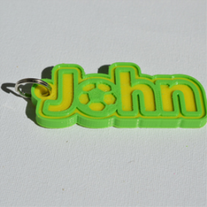 John Single & Dual Color 3D Printable Keychain-Badge-Stamp | Other Files | Fonts