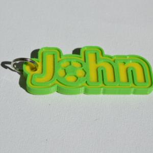john single & dual color 3d printable keychain-badge-stamp