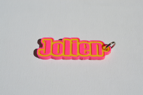 First Additional product image for - Jolien Single & Dual Color 3D Printable Keychain-Badge-Stamp