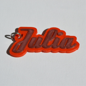 julia single & dual color 3d printable keychain-badge-stamp