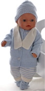 dollknittingpattern 0163d lasse - jacket, cap, suit scarf and socks-(english)