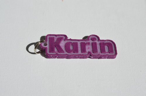 First Additional product image for - Karin Single & Dual Color 3D Printable Keychain-Badge-Stamp