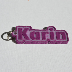 Karin Single & Dual Color 3D Printable Keychain-Badge-Stamp | Other Files | Patterns and Templates
