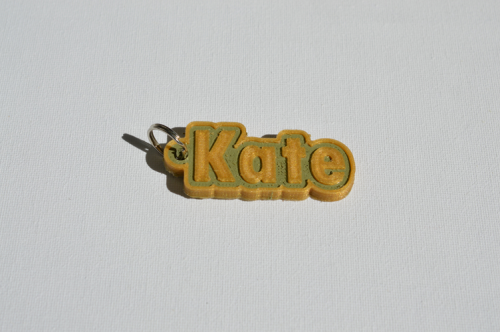 First Additional product image for - Kate Single & Dual Color 3D Printable Keychain-Badge-Stamp