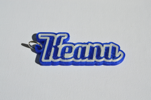 First Additional product image for - Keanu Single & Dual Color 3D Printable Keychain-Badge-Stamp