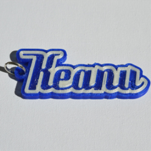 Keanu Single & Dual Color 3D Printable Keychain-Badge-Stamp | Other Files | Fonts