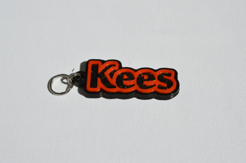 First Additional product image for - Kees Single & Dual Color 3D Printable Keychain-Badge-Stamp