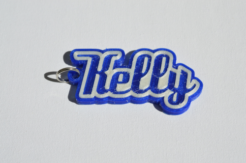 First Additional product image for - Kelly Single & Dual Color 3D Printable Keychain-Badge-Stamp