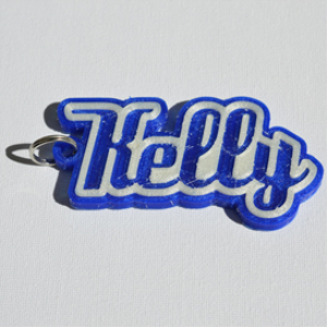 Kelly Single & Dual Color 3D Printable Keychain-Badge-Stamp | Crafting | Jewelry