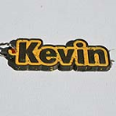 Kevin Single & Dual Color 3D Printable Keychain-Badge-Stamp | Other Files | Patterns and Templates