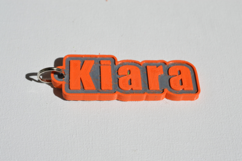 First Additional product image for - Kiara Single & Dual Color 3D Printable Keychain-Badge-Stamp