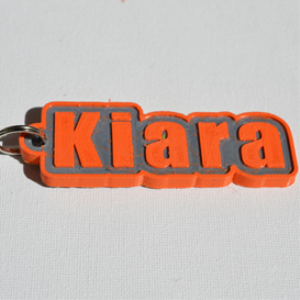 Kiara Single & Dual Color 3D Printable Keychain-Badge-Stamp | Other Files | Everything Else