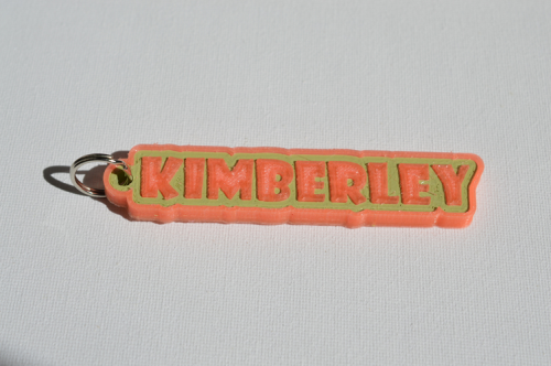 First Additional product image for - Kimberley Single & Dual Color 3D Printable Keychain-Badge-Stamp