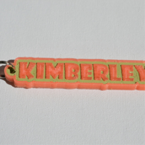 Kimberley Single & Dual Color 3D Printable Keychain-Badge-Stamp | Other Files | Everything Else