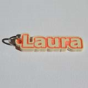 Laura Single & Dual Color 3D Printable Keychain-Badge-Stamp | Other Files | Patterns and Templates