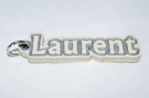 Laurent Single & Dual Color 3D Printable Keychain-Badge-Stamp | Other Files | Patterns and Templates