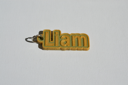 First Additional product image for - Liam Single & Dual Color 3D Printable Keychain-Badge-Stamp