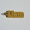 Liam Single & Dual Color 3D Printable Keychain-Badge-Stamp | Other Files | Everything Else