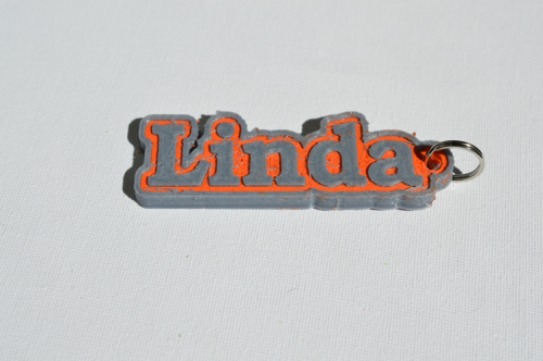 First Additional product image for - Linda Single & Dual Color 3D Printable Keychain-Badge-Stamp