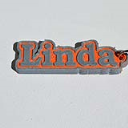 Linda Single & Dual Color 3D Printable Keychain-Badge-Stamp | Software | Add-Ons and Plug-ins