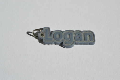 First Additional product image for - Logan Single & Dual Color 3D Printable Keychain-Badge-Stamp