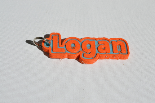 Second Additional product image for - Logan Single & Dual Color 3D Printable Keychain-Badge-Stamp