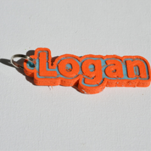 logan single & dual color 3d printable keychain-badge-stamp