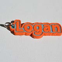 Logan Single & Dual Color 3D Printable Keychain-Badge-Stamp | Other Files | Scrapbooking