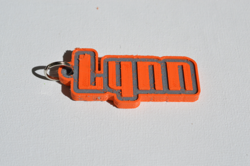 First Additional product image for - Lynn Single & Dual Color 3D Printable Keychain-Badge-Stamp