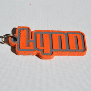 lynn single & dual color 3d printable keychain-badge-stamp