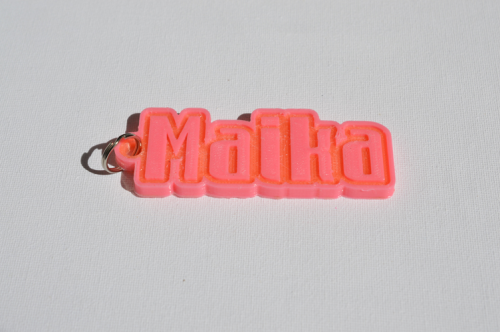 First Additional product image for - Maika Single & Dual Color 3D Printable Keychain-Badge-Stamp