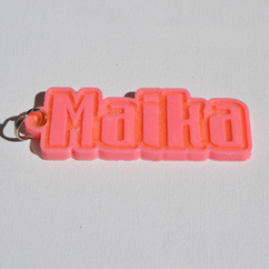 Maika Single & Dual Color 3D Printable Keychain-Badge-Stamp | Other Files | Everything Else