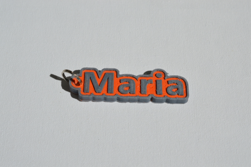 First Additional product image for - Maria Single & Dual Color 3D Printable Keychain-Badge-Stamp